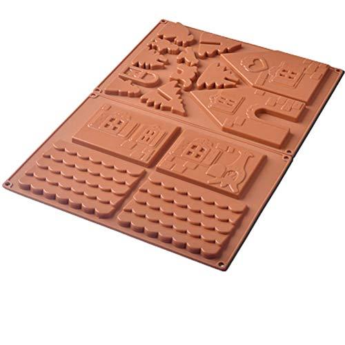WBTY 2 moldes de silicona de Navidad de jengibre para tartas de cocina