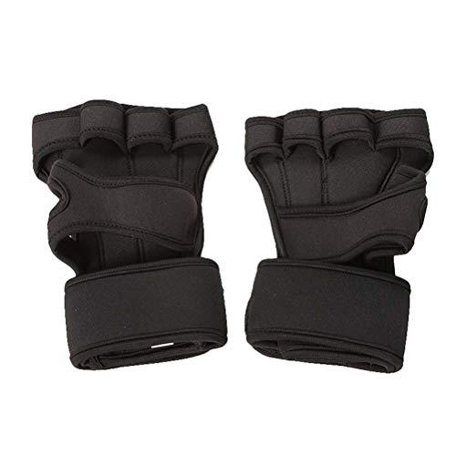 ABOOFAN 1 par de guantes sin dedos para levantamiento de pesas, guantes de ejercicio, suministros de entrenamiento para mujeres y hombres, talla S (negro)