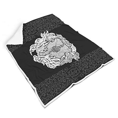 Charzee Viking deken, nieuw supersoft flanel microvezel sprei, aangenaam warme overwondering warmtedeken in de woonkamer