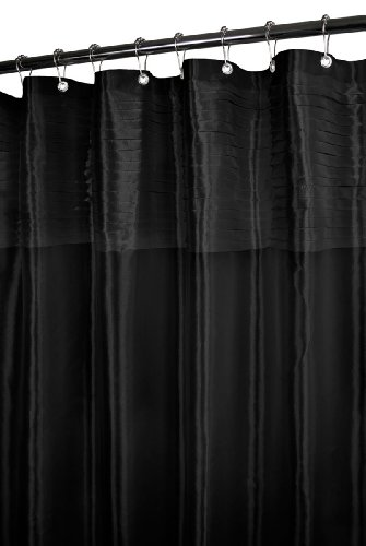 Park B. Smith Tuxedo Pleat Watershed Shower Curtain, Black