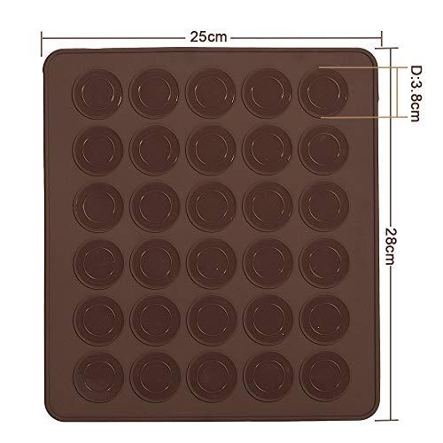 Plaque Macaron, LoveChef Tapis Macarons en Silicone Anti-adhésif, Plaque Silicone 30 Macarons
