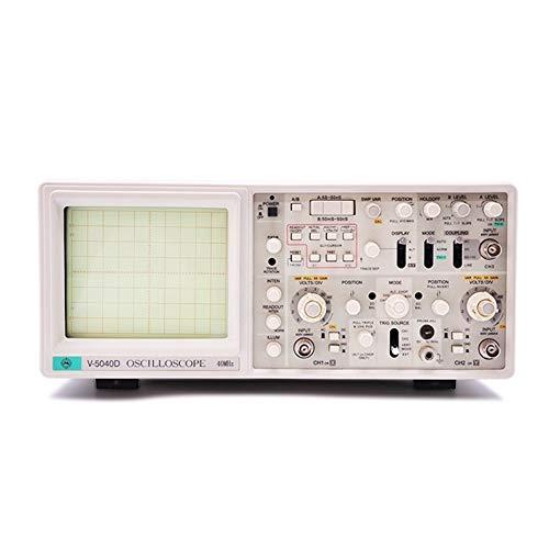 Précis V-5040D Oscilloscope analogique à trois pistes, six voies, lecture différée Oscilloscope à lecture numérique 40 MHz Durable (Size : 110V)