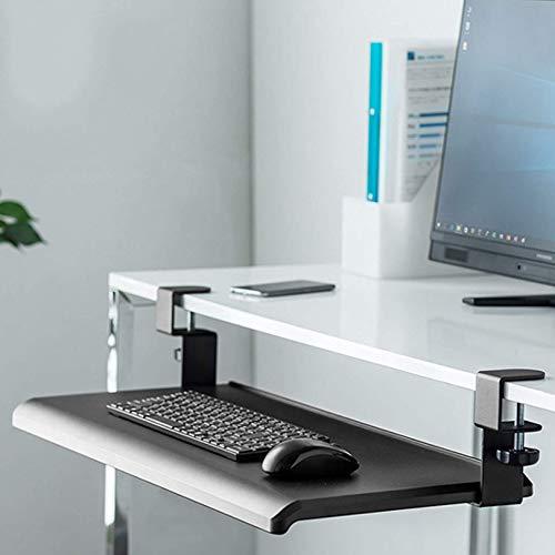 LLFFDC Plataforma de Bandeja para Teclado y Mouse, Soporte de Teclado retráctil, cajón de Montaje Inferior con rieles deslizantes, Reduce la Fatiga de la Mano