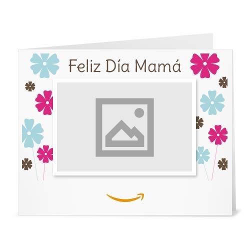 Cheques Regalo de Amazon.es - Para imprimir - Carga una foto - Feliz Día Mamá - Flores