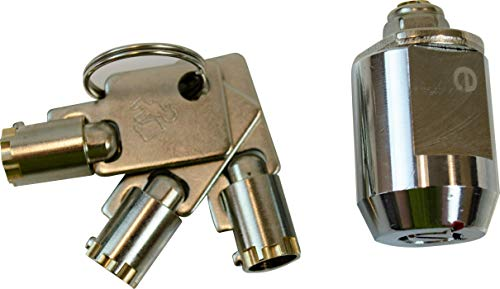 Defense2 - Short Cylinder Lock with Overlock Keys - Weather Proof - for Door, Storage, Cabinets, & More - 17mm Solid Brass Tubular Security Lock