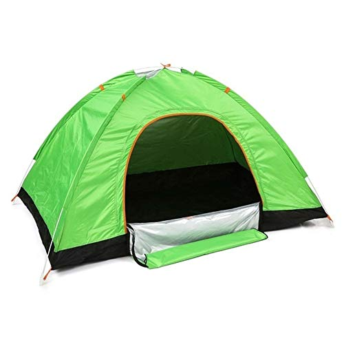 Outdoor Tents Protable Camping Beach Tent Waterproof for Sun Shelter,Travelling,Hiking Large Space 3 Color (Color : Green)