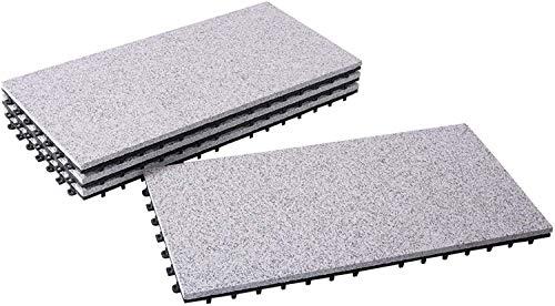 BodenMax® LLGRA001-GRY-3060-YP Granit-Classic 30x60cm Click vloertegels terrastegels kliktegels balkontegels binnengebruik buiten grijs (1 stuks, 0,18sm2, patroontegels)