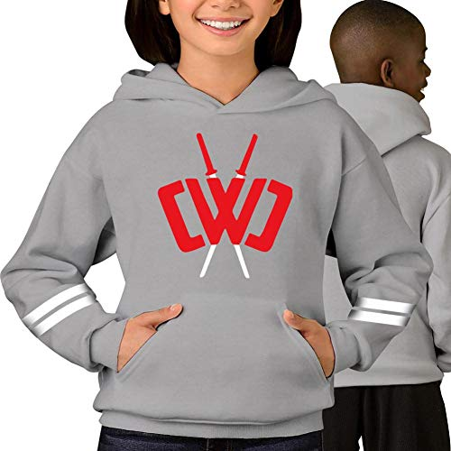 FAAVC Youth Chad Wild Clay Sweatshirts Pullover Long Sleeve Hooded with Pockets XL Gray
