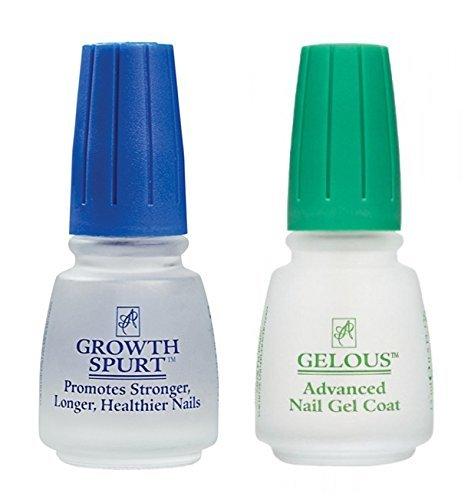 American Classic Nail Care Set (Gelous Nail Gel Base Coat Nail Polish & Growth Spurt Nail Treatment)