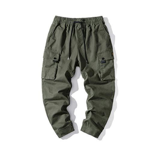 Pantalones Casuales de Cintura elástica para Hombre, Bolsillos Grandes, Ajustados, Holgados, de Gran tamaño, Pantalones Cargo de Moda para el Trabajo al Aire Libre X-Large