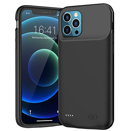 Battery Case for iPhone 12/12 Pro, Newest 7000mAh Slim Portable Protective Charging case Compatible with iPhone 12/12 Pro (6.1 inch) Rechargeable Battery Pack Charger Case (Black)