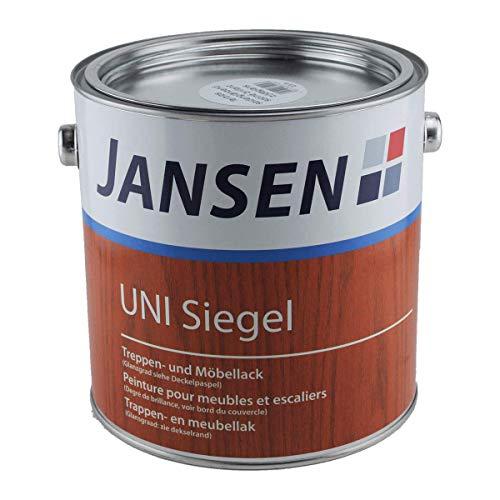 Jansen UNI Siegel 2,5 Liter - seidenglänzend - Siegel Treppen- und Möbellack - farblos - Lack - Holzlack