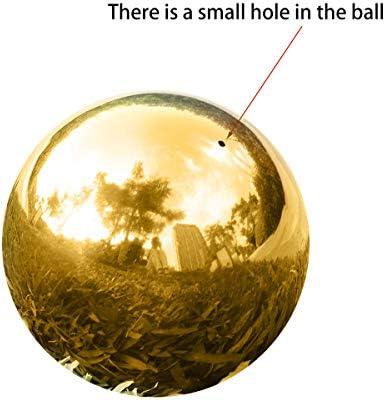 Golden LOVIVER Mirror Ball 8.86 Inch Golden Stainless Steel Gazing Globe Garden Lawn Landscape Ornament 225mm