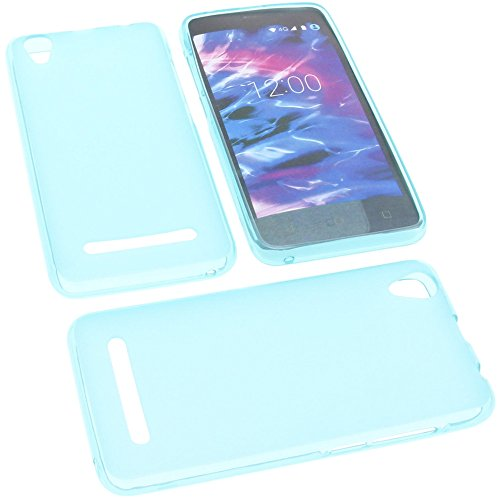 foto-kontor Tasche für MEDION Life E4504 Gummi TPU Schutz Handytasche blau