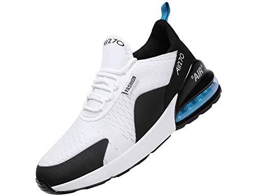 SINOES Zapatillas Running para Hombre Aire Libre y Deporte Transpirables Casual Zapatos Gimnasio Correr Sneakers Verde