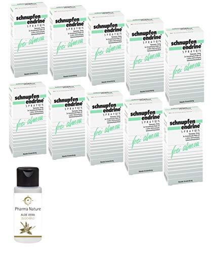 Schnupfen Endrine 0,1% Spray 10 x 10 ml Sparpack inkl. einer pflegenden Handcreme o. Duschbad von Pharma Nature
