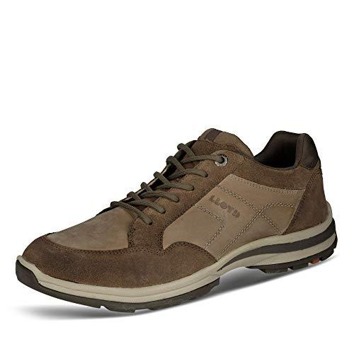 LLOYD Herren Low-Top Sneaker EFRAT, Männer Sneaker,Variofootbed, schnürschuh sportschuh maennliche maskulin rustikal Men,Raven/Coffee,11 UK / 46 EU