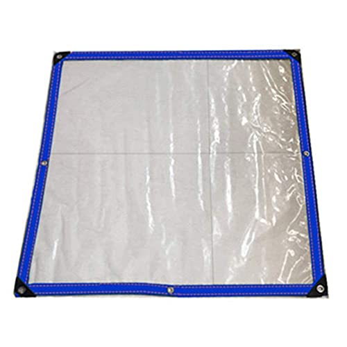 SJQ Cubierta de suculentas Impermeables de Lona Tela Espesa a Prueba de Lluvia Película de plástico Transparente Hebilla de Metal Reforzado, 22 tamaños, (0.12 mm / 150 g / ㎡) (Color: Blanco tran