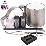 USA Cast Master PRO Mini 5 Ounce Propane Jewelry Kiln with Crucible and Tongs...