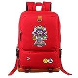 Arale - Mochila escolar para estudiantes y adolescentes, unisex, bolsa de viaje, bolsa de viaje, bolsa de viaje, bolsa de viaje, para mujeres y hombres Rojo Rojo 44*13*29cm