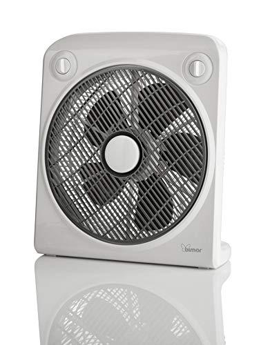 Bimar VBOX38T Ventilatore Box con Timer fino a 120 Minuti da 50W, Ventilatore da Appoggio con Selettore 3 Velocità, Elica Ø 30cm con 5 Pale, Griglia Frontale Rotante, Dimensioni Ridotte