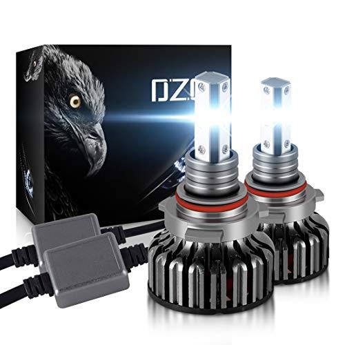 DZG Hir2 / 9012 Kit di conversione LED fari 8000Lm 6000K Nessun errore Lampadine per fari auto Xenon bianco 12V extra brillante 2 pezzi