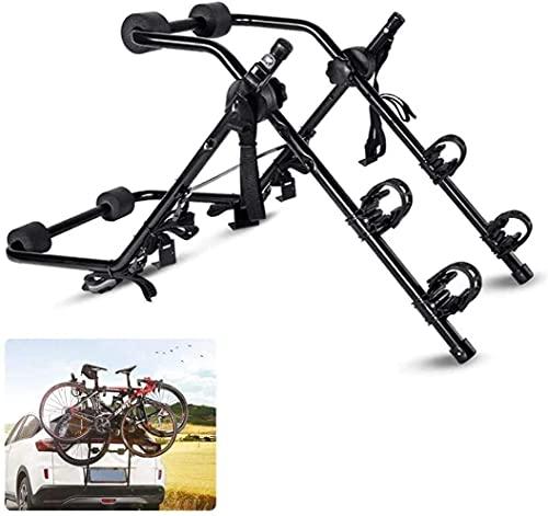 WXking 2 Bicycle Bike Car Cycle Carrier Rack Universal Fitting Bicycle Carrier Car Back Rack Rear Mounted Universal Travel Transit Indoor Bike Storage