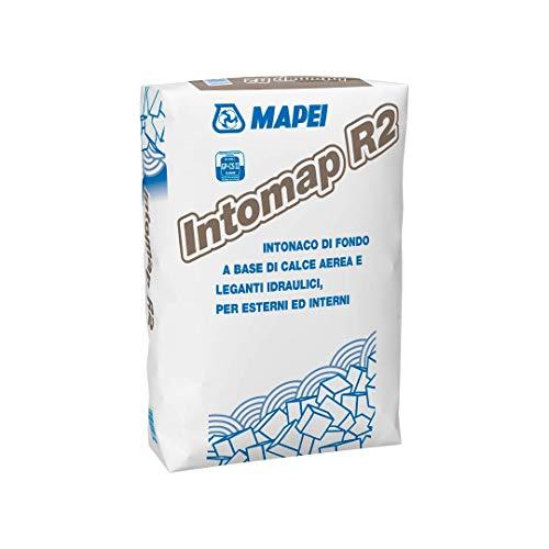 Mapei Intomap R2 Intonaco Di Fondo Base Calce Aerea e Leganti Idraulici Esterni Interni Kg 25