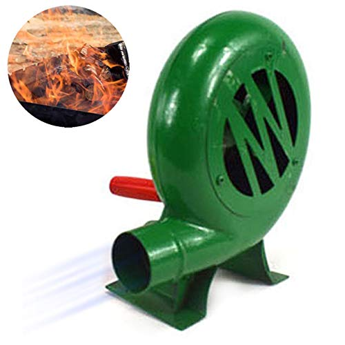 Sunningdale BBQ Fan Portable Hand Crank Air Blower Blacksmith Forge Blower Manual Fan for Barbecue Fire Bellows Tool Outdoor Picnic Camping Cooking Stove Tool