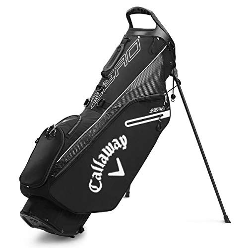 Callaway Golf 2020 Hyperlite Zero Lightweight Stand Bag (Black/Charcoal/White, Double Strap)