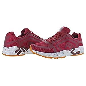 Fila Men's Mind Bender Fitness Shoes (12, Maroon/White/Gum)