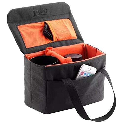 Selighting Faltbar Kamera Einsatz Tasche Wasserdicht Kameratasche für DSLR SLR Canon Nikon Sony (Schwarz)