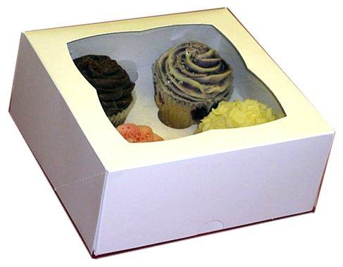 AVM 2 boîte Fée Cupcake Muffin Blanc et Plateau à gâteau Peut contenir 4