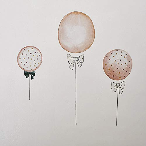 Terilizi Kinderkamer Cartoon Ballon Muurstickers Kleuterschool Verjaardag Party Leuke Achtergrond Muurstickers Decor Schieten Props-60X45Cm