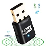 USB WiFi Adapter Mini AC 600Mbps Dual Band(2.4G/150Mbps+5.8G/433Mbps) Wireless USB Network Adapter WiFi