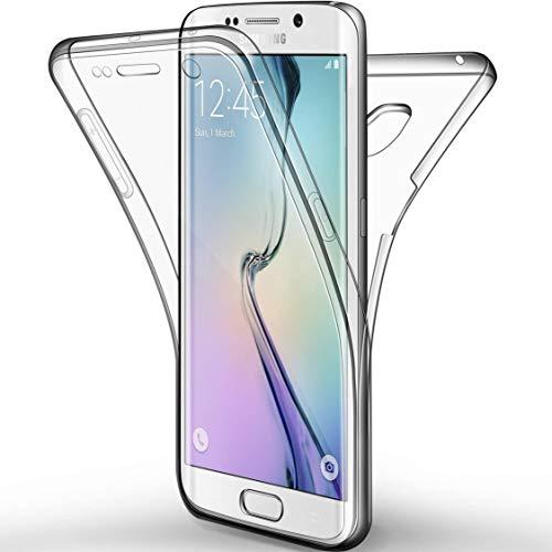 NewTop Cover per Samsung Galaxy S6, Custodia Crystal Case in TPU Silicone Gel PC Protezione 360° Fronte Retro Completa (per S6)