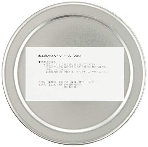 尾山製材株式会社木工用みつろうクリーム200g