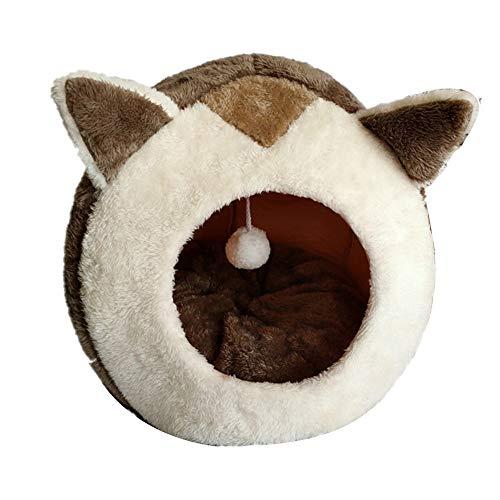 Cesta de nido de gato Cama del gato del animal doméstico for Pequeña Mediana perro de mascota suave nido de la perrera gatito Cama Casa Saco de dormir admiten invierno caliente acogedora Casa Cueva