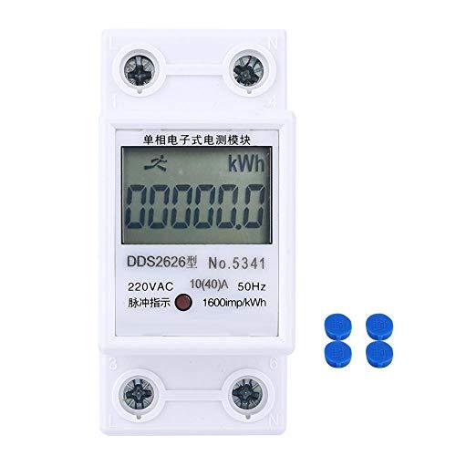 Medidor de energía monofásico Medidor eléctrico DDS2626 2P Monofásico Din-rail LCD KWH...