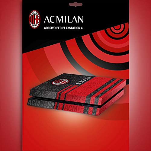 Imagicom AC Milan Skin para Consola PS4, PVC, Multicolor, 24 x 34