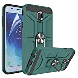 Galaxy J7 2018 Case,Samsung Galaxy J7 Aero/J7 Top/J7 Crown/J7 Aura/J7 Refine/J7 Star/J7 Eon Case,Atump 360 Degree Rotating Ring Holder Kickstand PC+ TPU Case for Galaxy J7 2018, Midnight Green