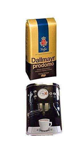 Dallmayr Prodomo ganze Bohnen 500g + Kaffeedose neu 3 D Design schwarz