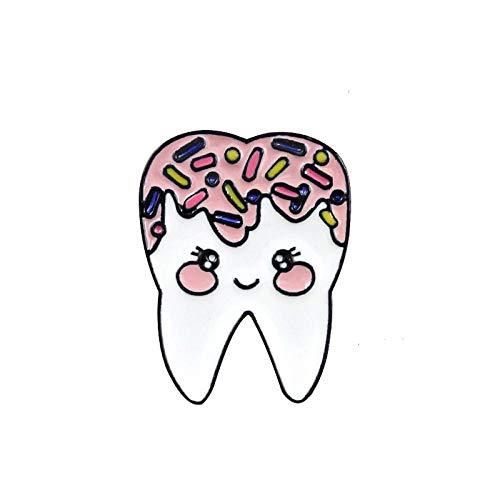 ZHANGSHAUNG Niedliche Karikatur Zahnform Öltropfen Brosche Schüchterne Zähne Zahnarzt Zubehör