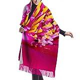 Bufanda de mantón, Bufanda de invierno unisex con sensación de cachemira clásica, cabeza de flor roja de Gerbera, plantas de género, bufandas largas grandes y cálidas, estola de mantón