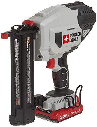 PORTER-CABLE 20V MAX Cordless Brad Nailer Kit with 1 Battery, 18GA (PCC790LA)