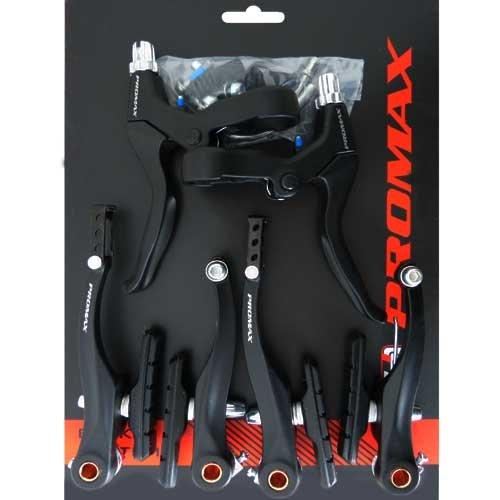 Promax Fahrrad V-Brake Bremsen-Set Bremse Schwarz (Schwarz)