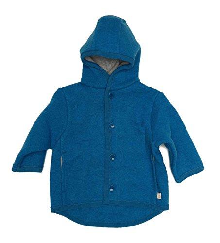 Disana Kinder Baby Walk-Jacke 100% Bio-Schurwolle (62/68, blau)