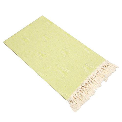 Linum Home Textiles Handtuch, Schmetterlingsmotiv, Pistaziegrün