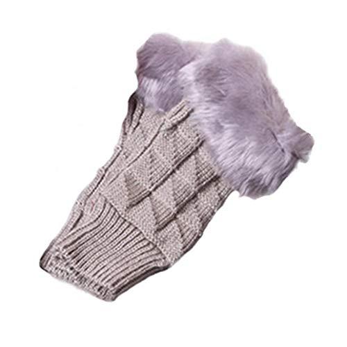 Lankater Frauen Arm Handschuhe Winter-warmer Fingerlose Handschuhe Plüsch Handgelenk Armlinge Strickfäustlinge Halbe Finger-handschuhe
