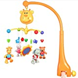 N\A Baby Crib Mobile for Boys and Girls – Take Along Baby Bed Mobile for Crib with Relaxing Music - Includes Timer and Holder Arm
